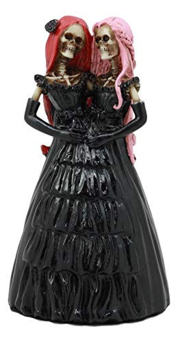 Ebros Steampunk Conjoined Siamese Twins Lady Skeleton Statue 5.25