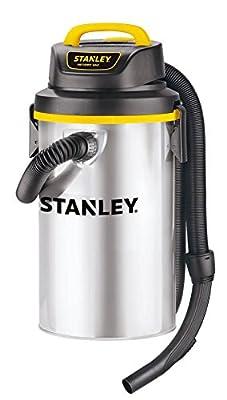 Stanley Wet/Dry Hanging Vacuum, 4.5 Gallon, 4 Horsepower, Stainless Steel Tank