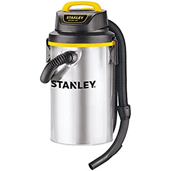 Stanley Wet/Dry Vacuum SL18133,4.5 Gallon 4 Horsepower Wall-Mounted Hanging Vacuum with 26 Cleaning Range Stainless Steel Tank, Home/Garage/Upholster/Laundry Rooms Vacuum