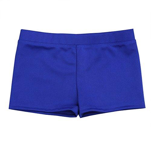 Freebily Girls Boy-Cut Yoga Cheer Volleyball Hot Pants Shorts Low Rise Gymnastics Dance Running Booty Bottoms Underwear Blue 6 (Blue Cheer Shorts)