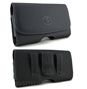 Leather Horizontal Sideways Belt Clip Case Pouch Holster for ZTE Radiant Z740 NEW!