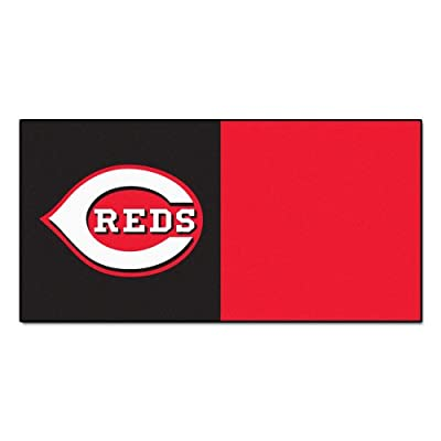 FANMATS MLB Cincinnati Reds Nylon Face Team Carpet Tiles