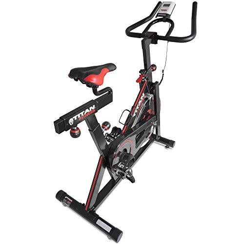Titan Pro Indoor Exercise Bike w/ 40 lb Flywheel LCD Cycle Cardio Fitness by Titan Fitness (Image #3)