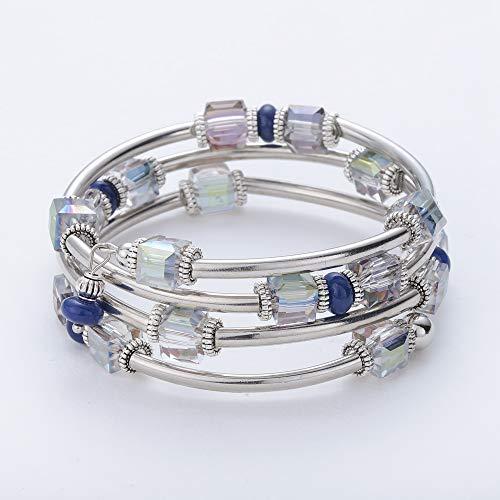 e48acd959 Lateefah Bead Crystal Bracelet Wrap Bangle Fashion Strand Bracelet Handmade Jewelry  Swarovski Crystals Bracelet Women Girls