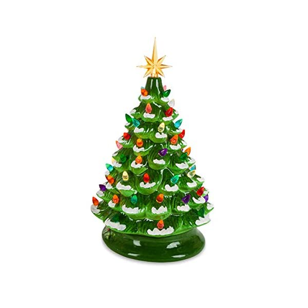 Green-Ceramic-Dolomite-Christmas-Tree-Optional-Music-Setting-Batteries-Included-Timer