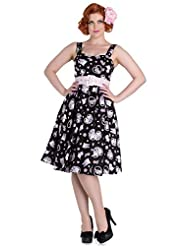 New Hell Bunny Amelia Vintage Retro Rockabilly 50s Cat Kitten Hearts Party Dress
