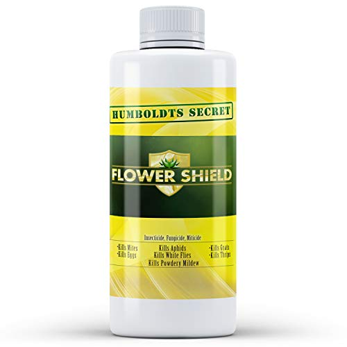 Humboldts Secret Flower Shield - Powerful Insecticide - Pesticide - Miticide - Fungicide - Bug Spray - Spider Spray - Plant and Flower Protection - Healthy Treatment for Pests and Fungus - 8 Ounces