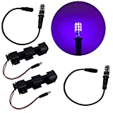 2 Kits Blacklight LED Special Effects Lights for Props Scenery Fluorescent Glow Paints pigments 12V DC Battery Operated Low Voltage Ultraviolet Black Lights