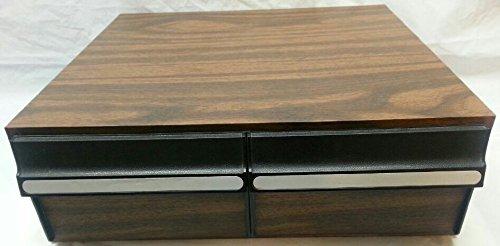 24 Capacity VHS Cassette Tape Holder Case Storage Cabinet [Hold 24 VHS Tapes]