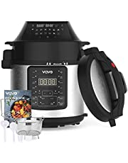 VQVG Pressure Cooker Air Fryer Combo, All-in-1 Multi-Cooker