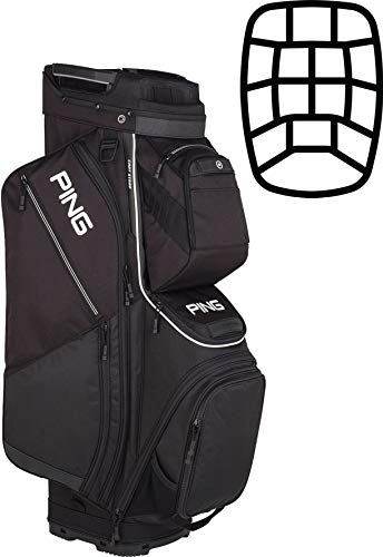 PING 2019 Pioneer Cart Bag (Black) (Best Price Golf Cart Bags)