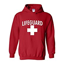Xekia Lifeguard in White Unisex Hoodie Sweatshirt