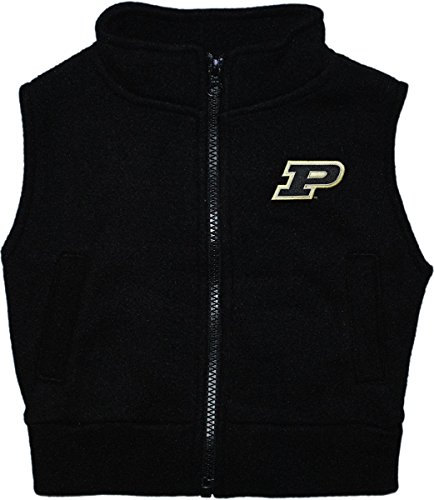 (Creative Knitwear Purdue University Boilermakers Newborn Infant Baby Polar Fleece Vest,Black,2 Toddler)