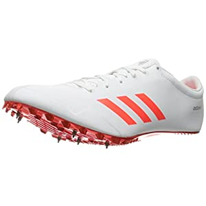 adidas Originals Adizero Prime SP Track Shoe, White/Infrared/Metallic Silver, 11 M US