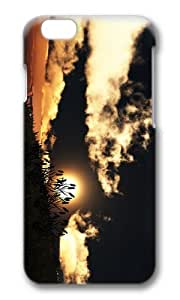 MOKSHOP Adorable hill grass sunset Hard Case Protective Shell Cell Phone Cover For Apple Iphone 6 Plus (5.5 Inch) - PC 3D