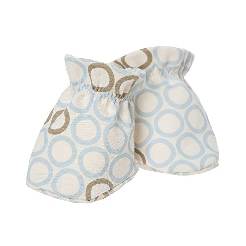 withorganic Newborn Soft Sole Booties Crib Shoes Socks Prewalker Slippers (Blue Ladybug, 1) ()