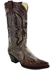 Corral Womens Eagle Sequence Inlay Western Boots