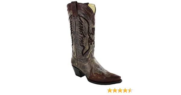 c1db29f5a2d CORRAL Women's Eagle Sequence Inlay Western Boots