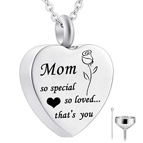 HQ So Special, So Loved, That's You. Cremation Jewelry Heart Urn Pendant Rose Flower Necklace Memorial Ash Keepsake & Free Fill kit ()