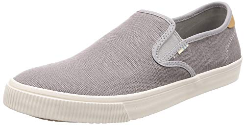 TOMS Drizzle Grey Heritage Canvas Mens Baja Slip-Ons Shoes (10 D US)