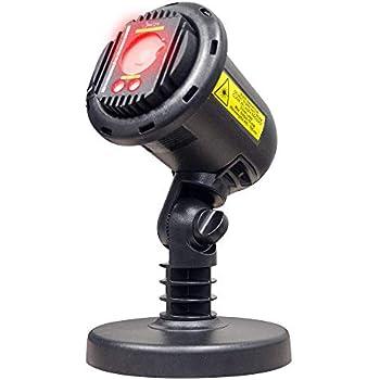 BlissLights Laser Projector + 16 Color LED w/remote – Indoor/Outdoor Home Landscape Lights (Red)
