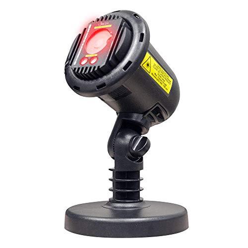BlissLights Laser Projector + 16 Color LED w/remote - Indoor/Outdoor Home Landscape Lights (Red) ()