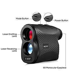 Youwendu Inlife 5-600P Laser Rangefinder 600m Distance Meter 6X Monocular Golf Range Finder by YOUWENDU