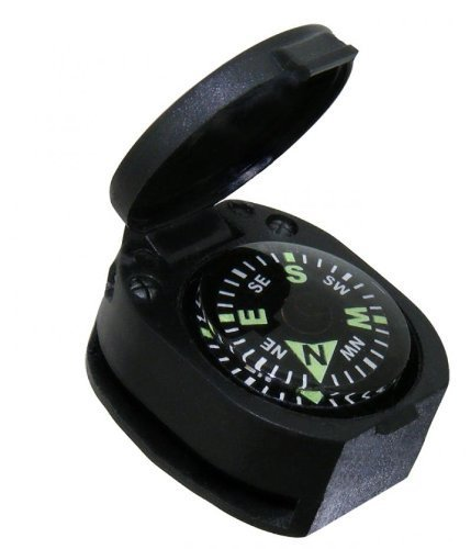 Sun Company Wrist Turtle - Armoured Wrist Compass with Closing Cover | Easy-to-Read Compass for Watch Band or Paracord Survival Bracelet