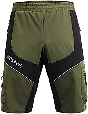 Amazon.com  Wolfbike Men Mountain Loose-Fit Cycling MTB Shorts  Multifunction Sports Shorts (Army Green 5d1c619c4