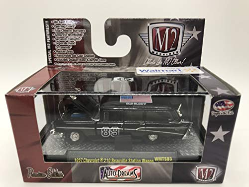 M2 Machines Auto-Dreams The Patriot Release 1957 Chevrolet 210 Beauville Station Wagon 1:64 Scale WMTS03 16-09 Black Details Like NO Other! Over 42 Parts