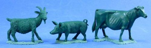Animal Companions Goat Pig Cow Miniature 25mm Heroic Scale Dark Heaven Legends Reaper Miniatures