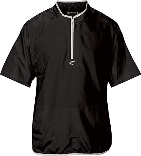 (Easton Youth M5 Short Sleeve Cage Jacket,Black|Silver,XL)