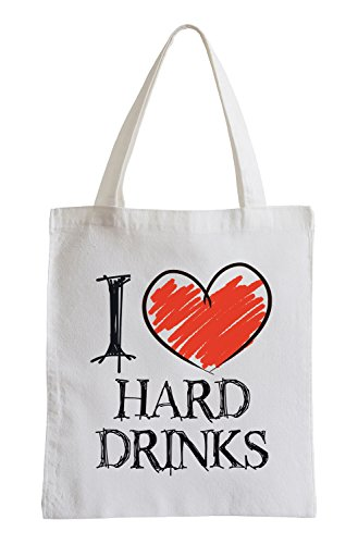 Amo duri bevande Divertimento sacchetto di iuta