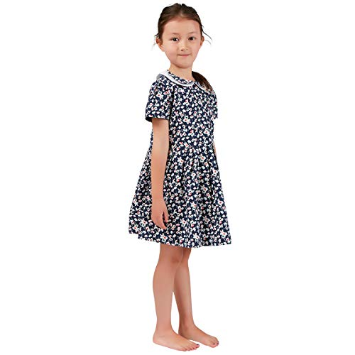 Girls Dresses French Style Vintage Liberty Print Pure Cotton Summer Garden Dresses 3-12 Years ()