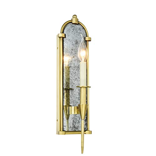 Royce Edge 1-Light Wall Sconce (Burnished Brass, Bronze, Polished Nickel) Burnished Brass Brass Finish, Burnished