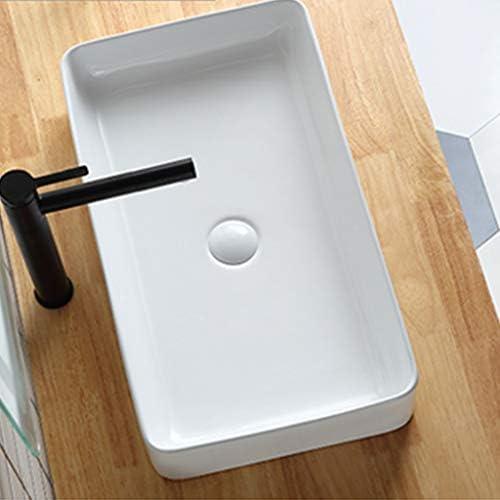 陶器 洗面ボール,省スペ 室外 ミニ型 洗面ボウル 楕円形 洗面台 手洗器 洗面台 手洗い鉢 おしゃれ 洗面ボ ガラス 手洗い鉢 手洗い器 壁付け型 (Color : White)