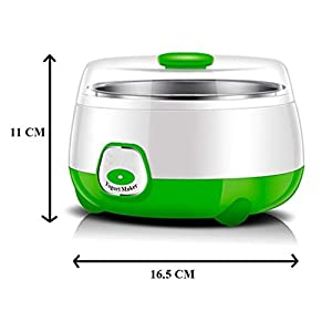 HSR Plastic and Stainless Steel 1L Automatic Yogurt Maker (Multicolour, 170x170x120mm)