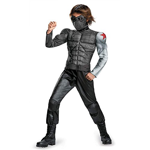 Captain America: Winter Soldier Muscle Kids Costume - 4-6