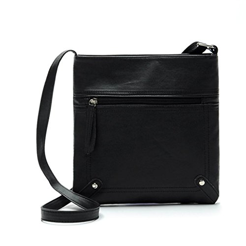Women Messenger Bag PU Leather Crossbody Satchel Shoulder Handbag - 5