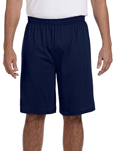 Augusta Heavyweight Jersey - Augusta Sportswear 50/50 Jersey Shorts, Medium, NAVY