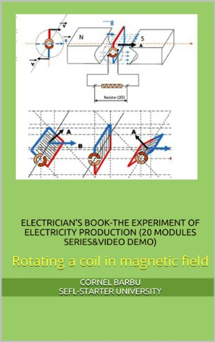 ELECTRICIAN'S BOOK-THE EXPERIMENT OF ELECTRICITY PRODUCTION (20 MODULES SERIES&VIDEO DEMO) Rotating a coil in magnetic field
