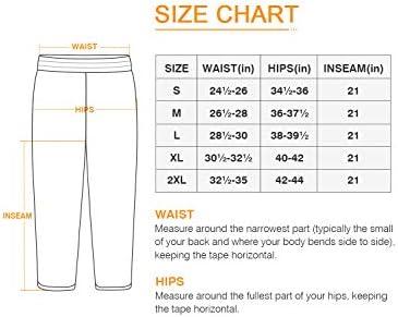 NAVISKIN Pantalones Casuales Protección UPF 50+ para Mujer Capri Pants Deportivos Pantalón Pirata Atlético Fitness Correr Térmico Chándal Deporte Yoga Running Entrenamiento 9