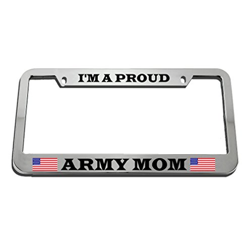 oud Army Mom License Plate Frame Tag Holder (Army Mom License Plate Frame)