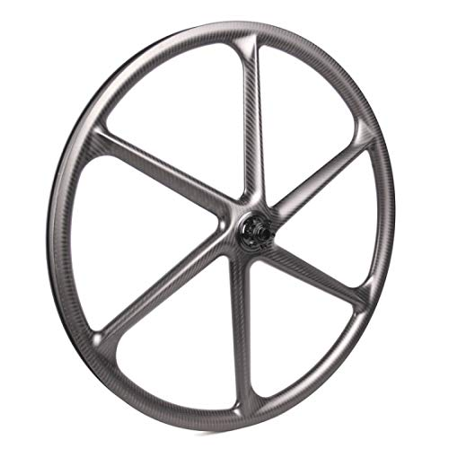 LightCarbon MTB 6 Fixed Power Beam Spoke Gear Clincher Tubeless Ready Carbon Fiber Bicycle Front Wheel Size 29er 700c x 24/30mm Width 30mm Rim Depth/Mountain Type/Chosen hub Shimano Sram 10/11s XD