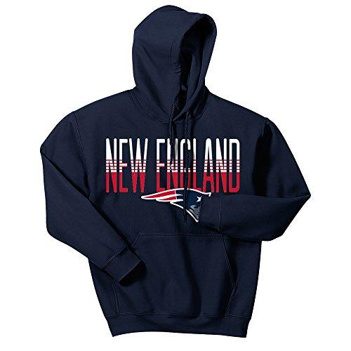 NFL New England Patriots Men's Zubaz Gradient logo hoodie, Large, Navy