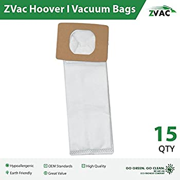 Hoover Type I Hepa Vacuum Bags - 15 Pack - Replaces Part Ah10005 - Made by ZVac