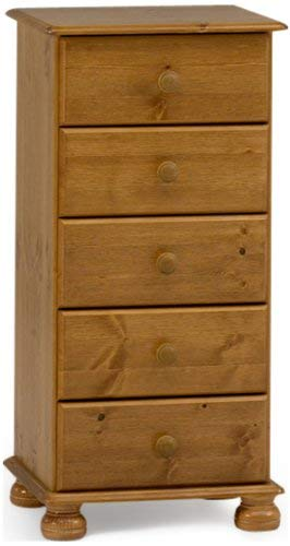 Steens 3022050034000F Richmond Pine Narrow Chest of Drawers Brown