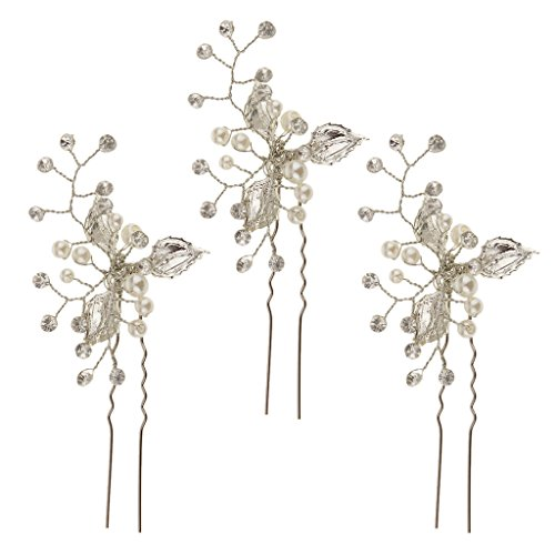 MagiDeal Wedding Crystal Hairpin Accessories