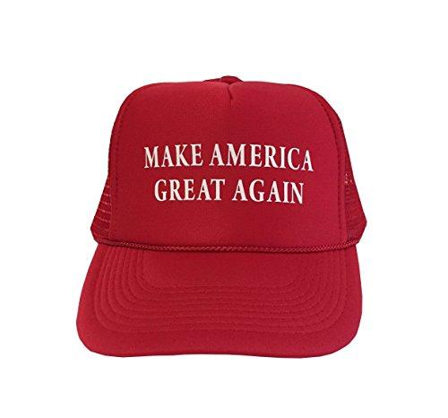 "P&B Campaign Adjustable Unisex Hat Cap ""MAKE AMERICA GREAT AGAIN!"" (RED)"