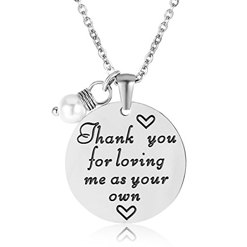 ELOI Christmas Gift for Stepmom Thank You For Loving Me As Your Own Necklace Mother's Day Gifts Bonus Mom Pendant Mother in Law Jewelry by ELOI (Image #4)